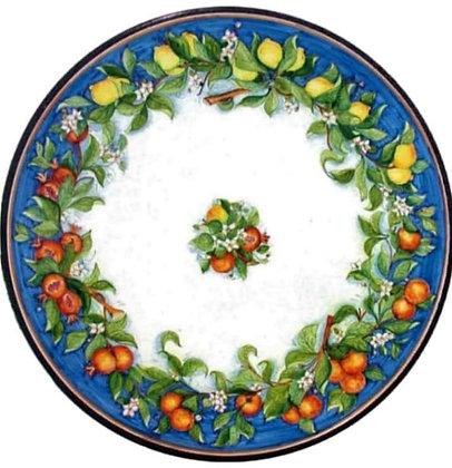 Round table - lava stone, lemons