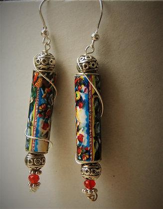 Earrings, Carretto Siciliano (CSO1)