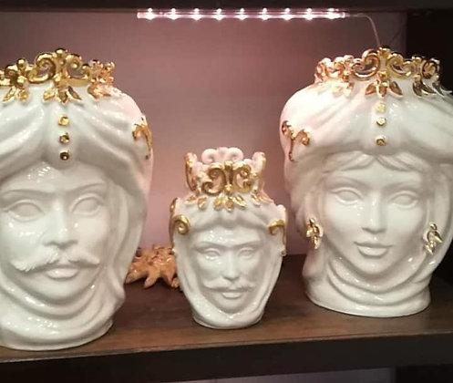 Moorish heads - white