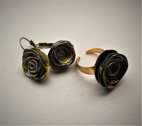 Earrings and ring set, Ballaro' Market (MBS1)