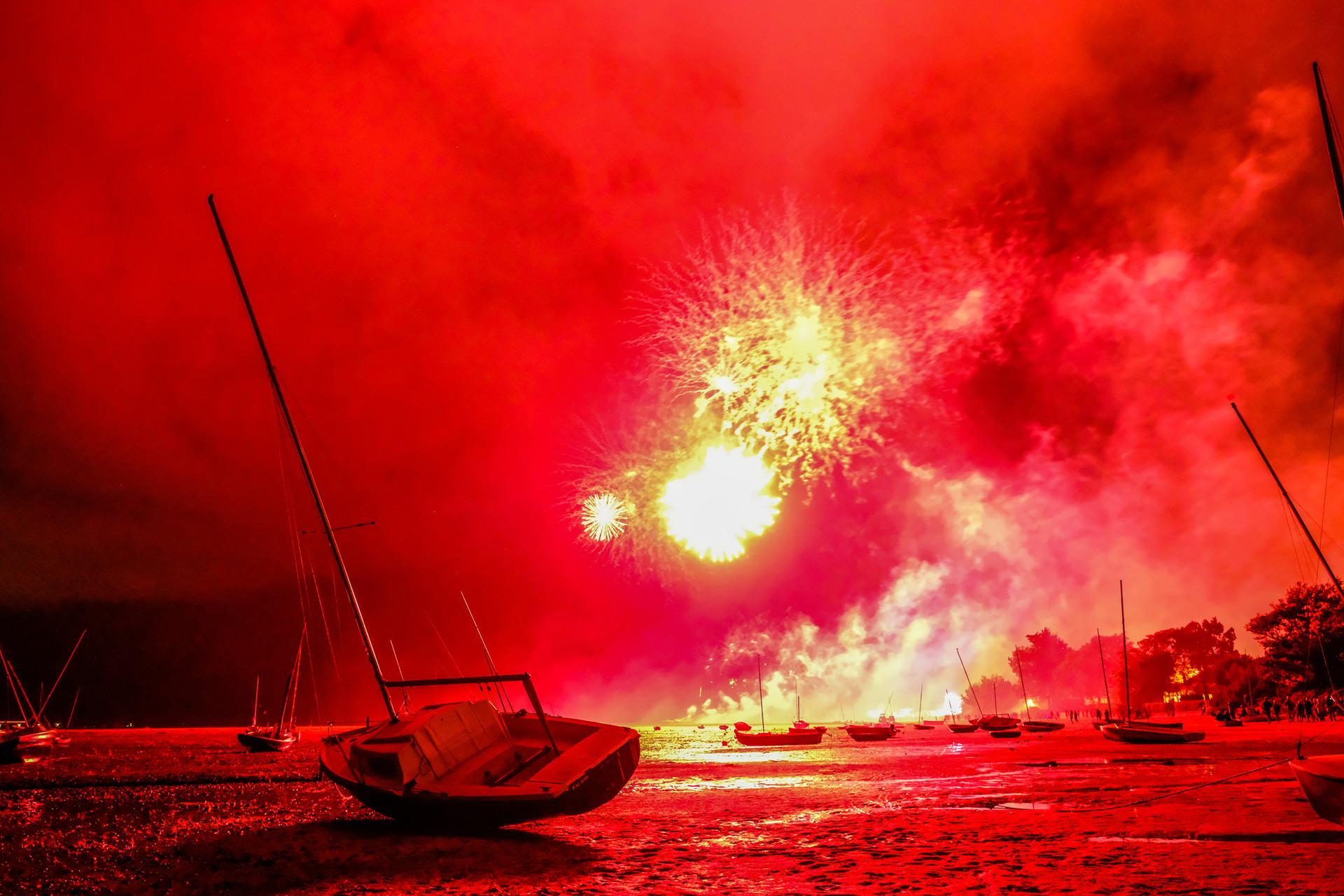 Fireworks over the Bassin d'Arcachon