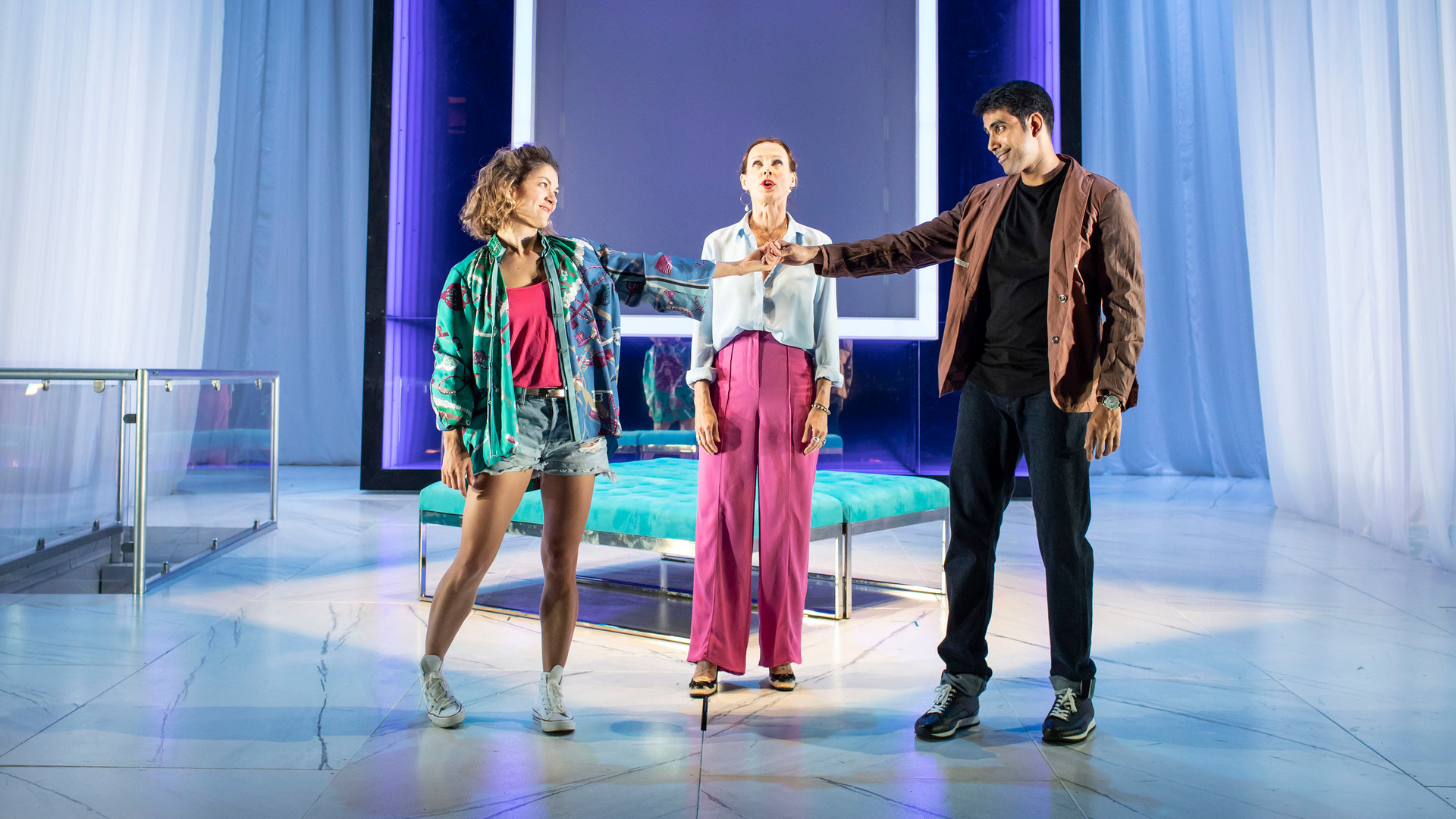 Olivia Ross, Claude Perron and Jaz Deol (l-r) in Tartuffe. Photo by Helen Maybanks 131.jpg