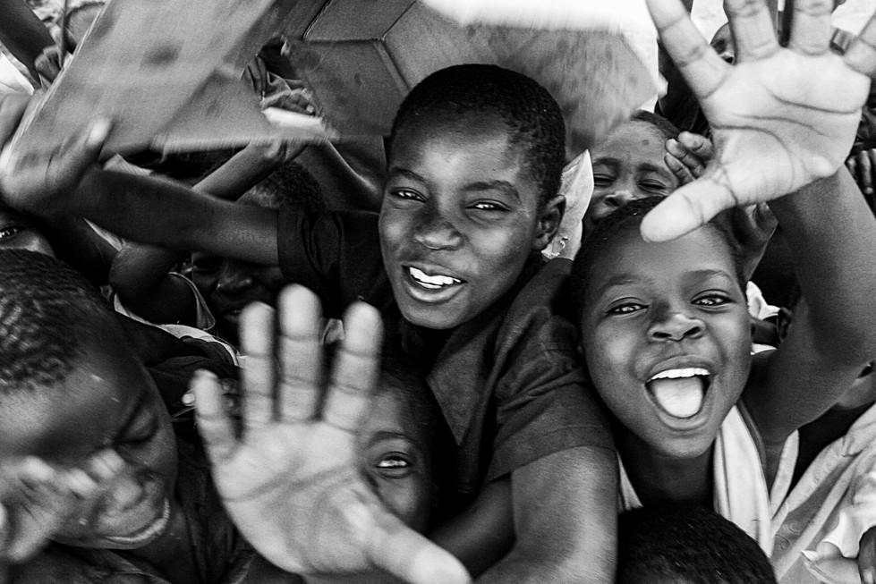 Children on Lake Malawi