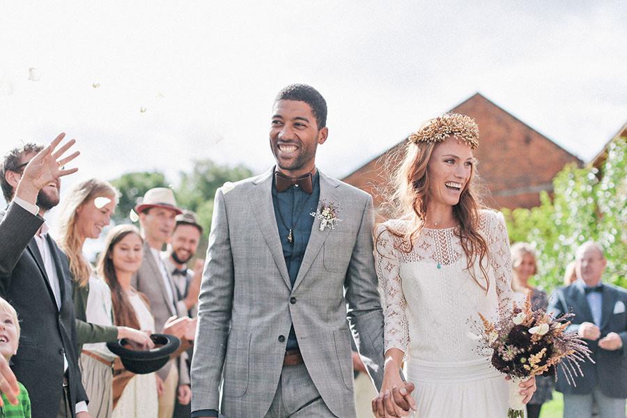 mariage bohème nature