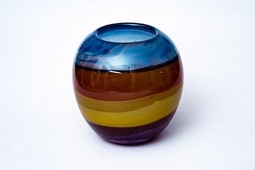 Bunte Glasvase von Hubert Hödl