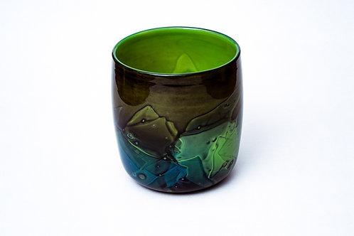 grüne Vase Manufaktur Zwiesel