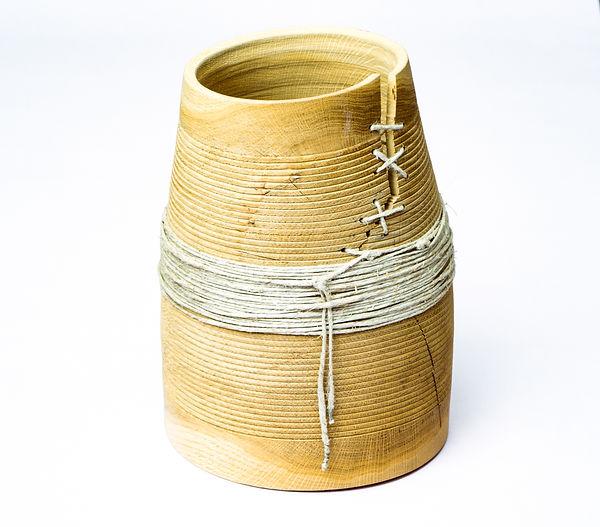 Holz Vase Eiche