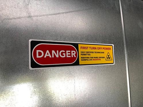 "2"" x 8"" UVC Safety Seal Label"