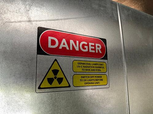 "5"" x 7"" UVC Safety Label (Transparent)"