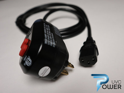 GFCI Power Cord With C13 Receptacle - 6' Assembly