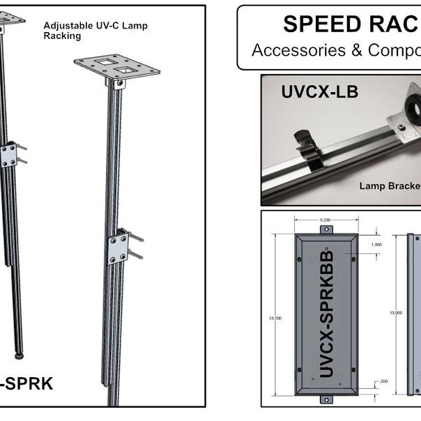 UV-C Lamp Racking Components