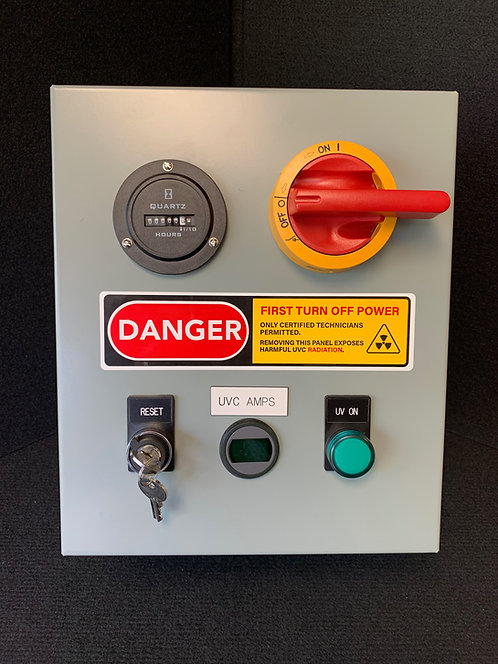277 Volt AC Control Panel - Germicidal UVC Disconnect Panel - Safety Interlock