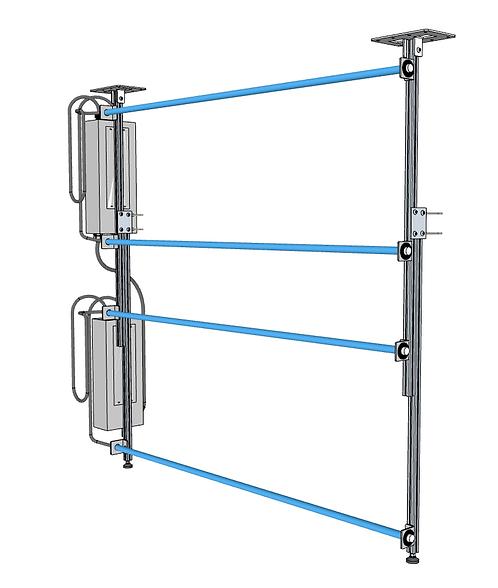 SPEED RACK SERIES -Adjustable UV-C Lamp Mounting Systems