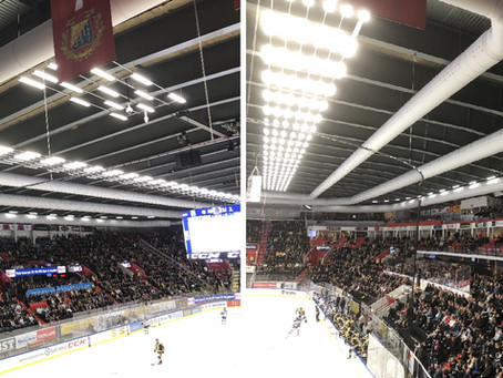 Ice arena climate control with textile ducts