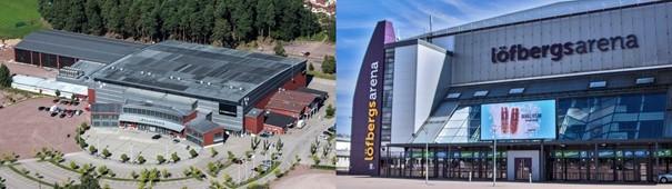 Löfbergs arena and Tegera arena
