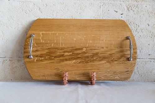 French Oak, Barrel Head Grazing Board/Tray