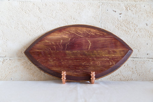 French Oak Cutting/Grazing Board Front View