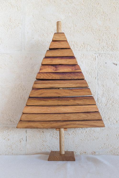Christmas Tree Wine Barrel Small