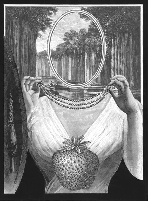 Un rostro flotando en el espejo