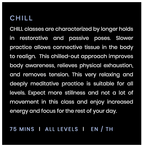 chill yoga class bangkok