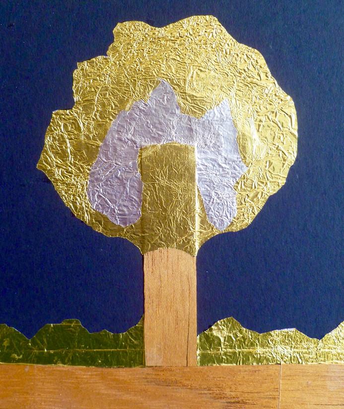 Árbol de oro y plata