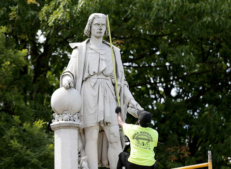 Philadelphia announces plans to remove Columbus statue after repeated violence at Marconi Plaza