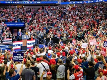 President Trump Delivers High-Energy Speech to Enthusiastic Supporters in Tulsa