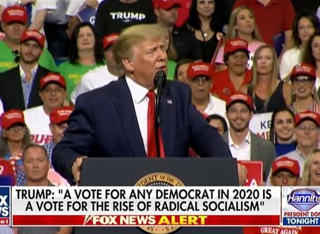 Trump kicks off 2020 campaign by targeting media, Democrats, Hillary Clinton