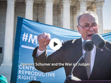 Schumer and the War on Judges