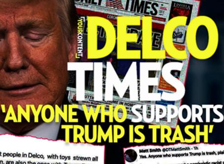 Delco Times Reporter Matt Smith Calls All Trump and Police Supporters Racist Bigots in a Cult