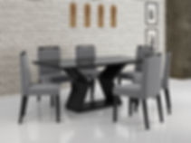 Mesa Lia_Preto + Cadeira Alana_Preto-Cin