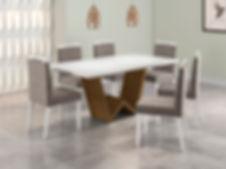 Mesa Monaco_branco-cinamomo + Cadeira Al