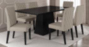 Mesa Ellen_Preto + Cadeira Dara_Preto-Be