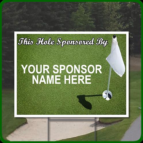 Golf Scramble Hole Sponsorship Sign