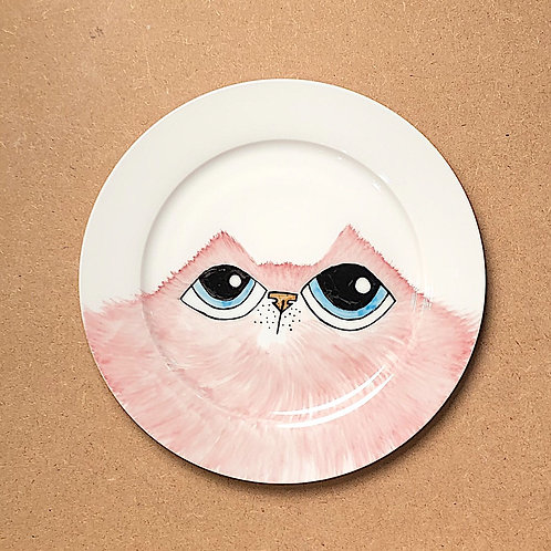 Emmely Pink Cat Plate