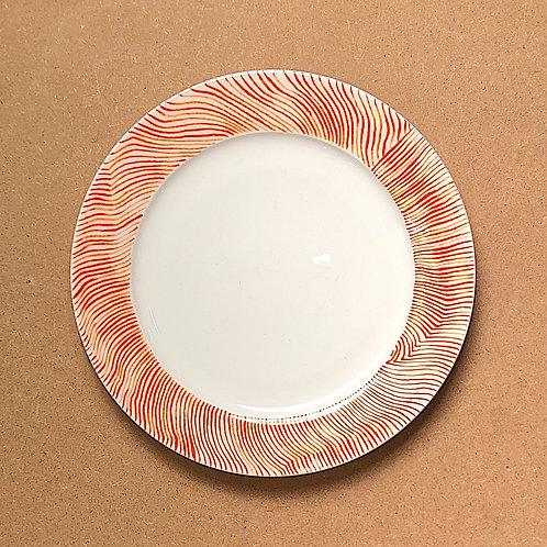 Marg Duston Orange Line Plate