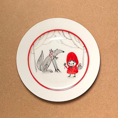 Lettie Pidgeon Red Riding Hood Plates