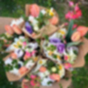 The first mixed bouquets of the season.