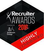 Recruite Awards 2016 HIGHLY COMMENDED