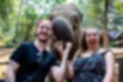 At the Elephant Sanctuary