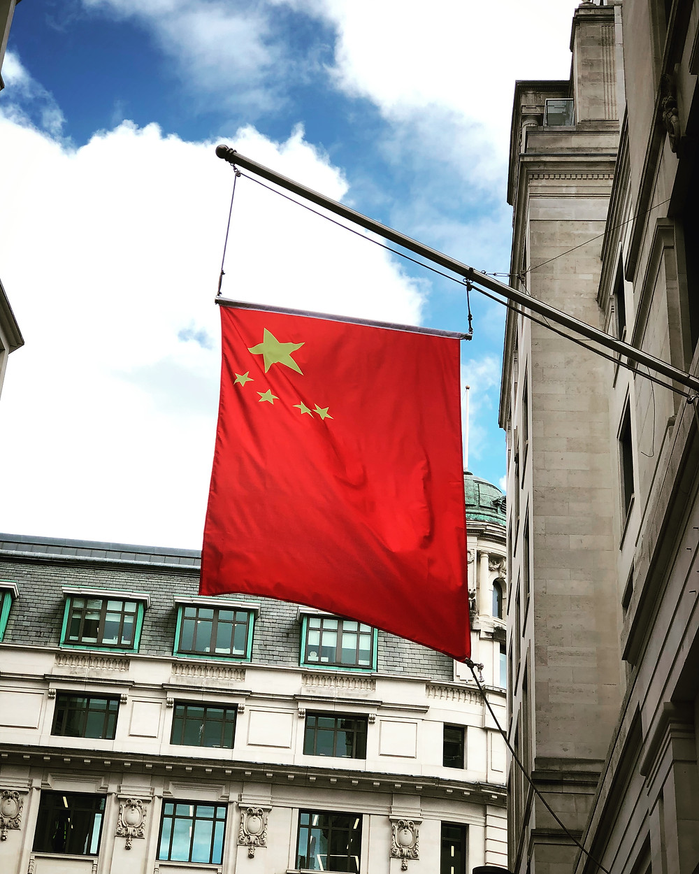 Chinese flag in London.