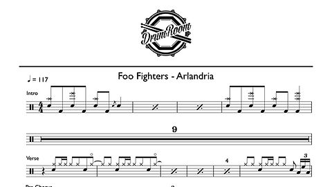 Foo Fighters - Arlandria - drum sheet mu