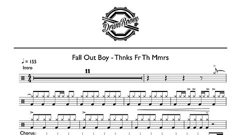 Fall Out Boy - Thnks Fr Th Mmrs - drum s