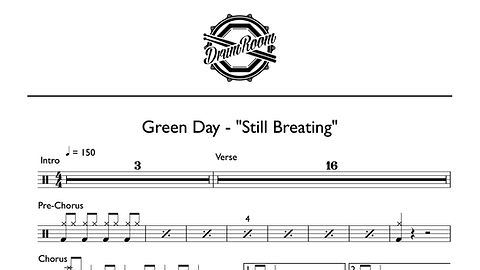 Green Day-Still Breating - drum sheet mu