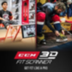 Now in-store CCM Custom Fit Scanner. Now