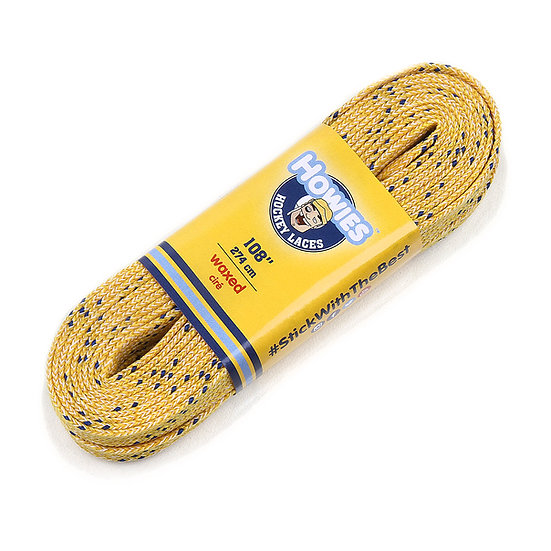 HOWIES YELLOW WAXED HOCKEY SKATE LACES