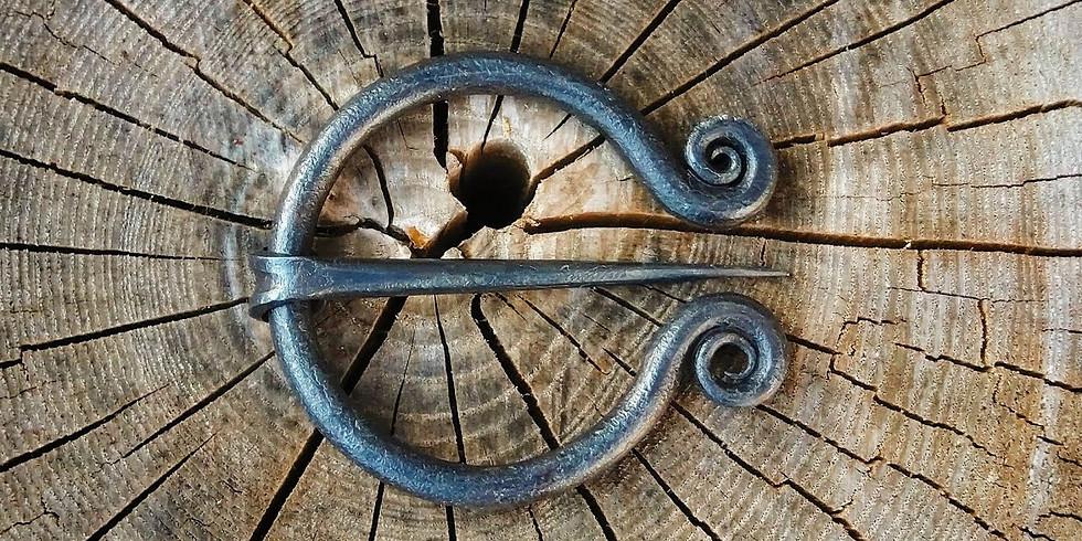 Blacksmithing- Penannular Brooch