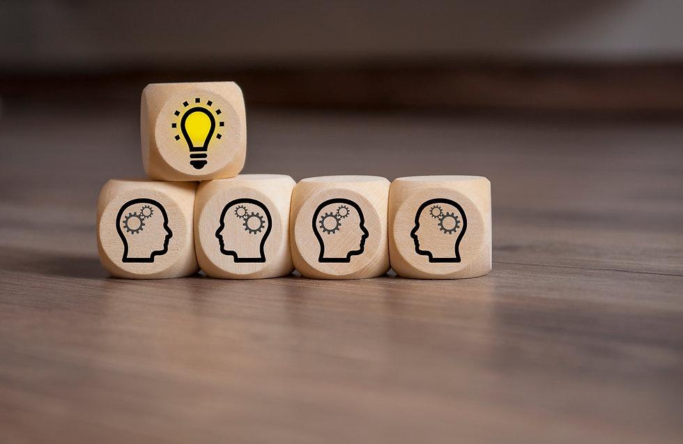 Dices with Teamwork Idea Business.jpg