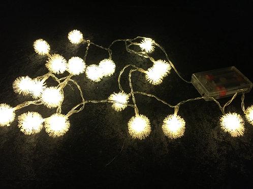 Schneeball Weihnachtsbeleuchtung 2m