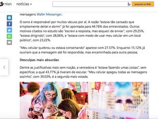 Wafer Messenger featured on MSN Brazil